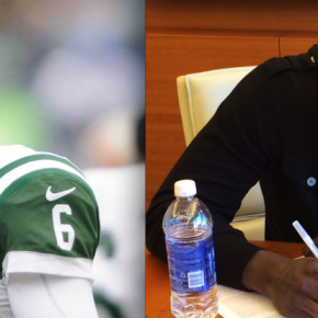 Sanchez released by the Jets. Signed QB Michael Vick